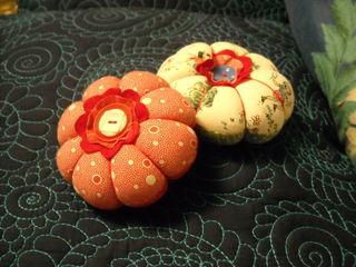 Two pincushions