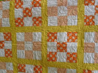 Picnic quilt close up quilting